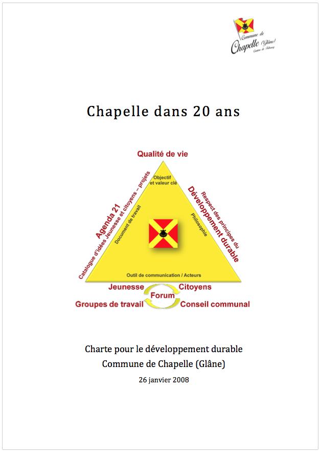 Charte Agenda 21 - Chapelle dans 20 ans