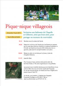 Pique-nique villageois 2015