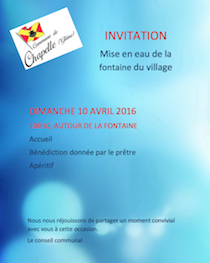 Invitation fontaine 2016